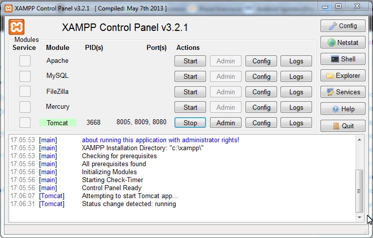 Xampp v.3.2.1